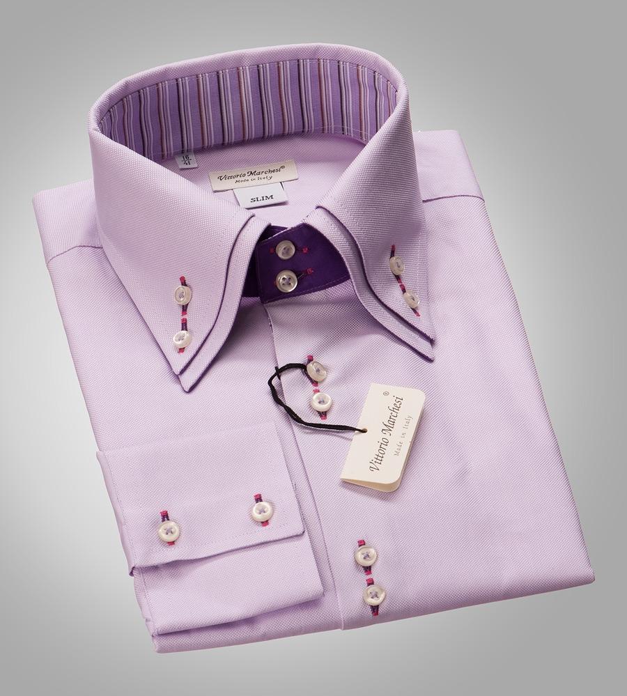Рубашка мужская приталенная Vittorio Marchesi
