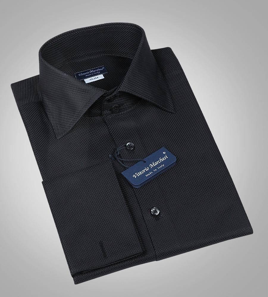 Купить стильную мужскую рубашку под запонки